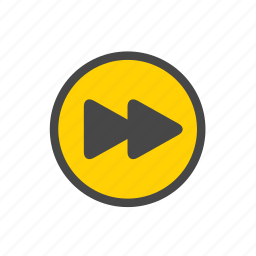 fast forward, fast forward button, next button, next track icon