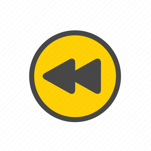 back, rewind, rewind button icon