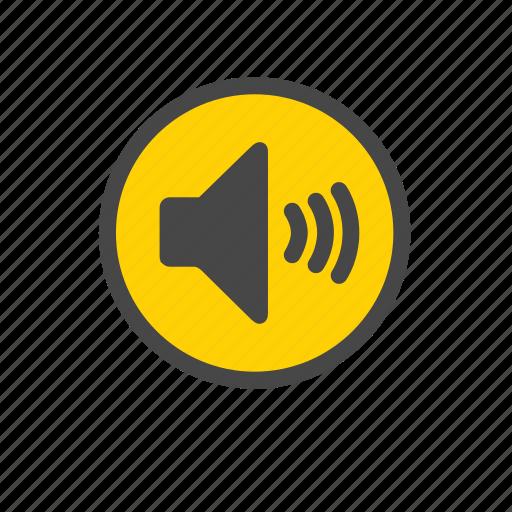 audio, loudspeaker, sound, speaker, speaker on, volume icon