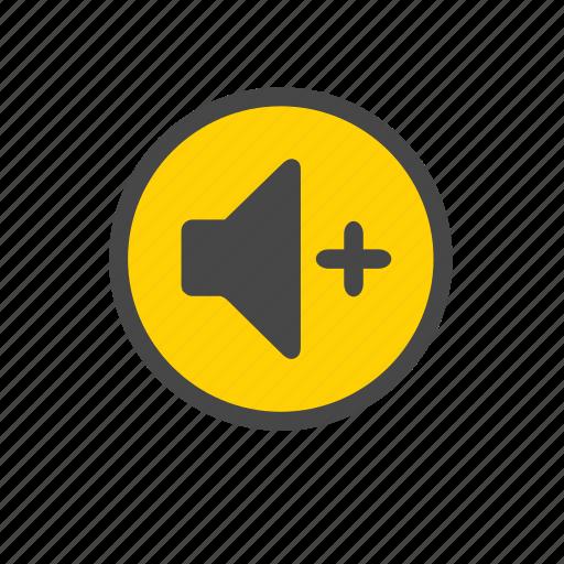 increase volume, plus volume, volume up icon