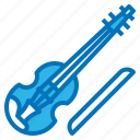 instrument, music, musical, violin icon