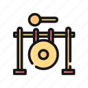 audio, gong, instrument, multimedia, music, song, sound