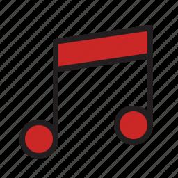 audio, music, note, score, sound icon