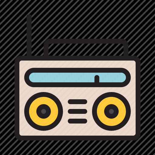 audio, music, old, radio, sound, vintage icon
