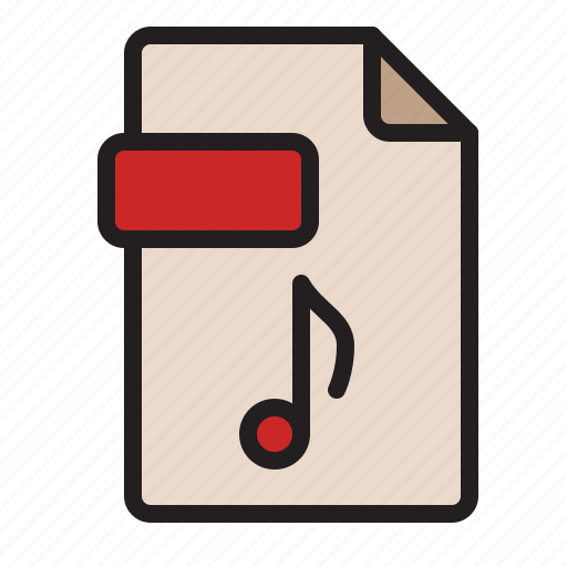 audio, computer, extension, file, music, sound icon