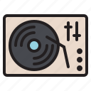 audio, dj, instrument, music, sound, turntable, vinyl icon