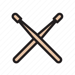 drum, drumstick, instrument, music, percussion, stick icon