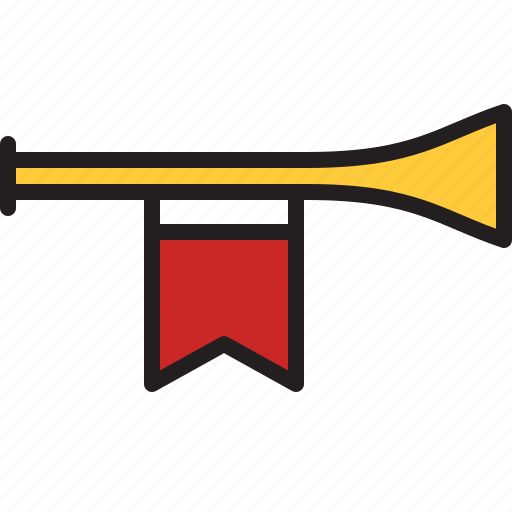 audio, horn, medieval, music, sound, trumpet, wind icon