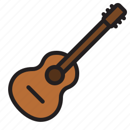 acoustic, audio, guitar, instrument, music, sound, stringed icon