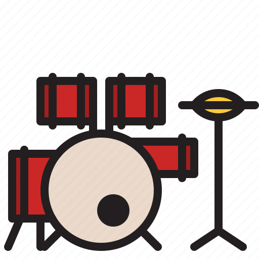 audio, drum, drumstick, instrument, music, percussion, sound icon