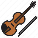 audio, instrument, music, sound, stringed, violin icon