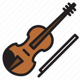 audio, instrument, music, sound, stringed, violin icon