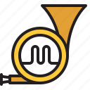 audio, horn, instrument, music, sound, trumpet, wind icon