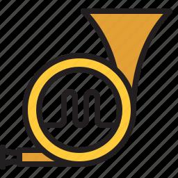 audio, horn, instrument, music, sound, trumpet, wind icon