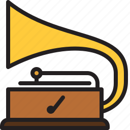 audio, music, old, phonograph, sound, turntable, vintage icon
