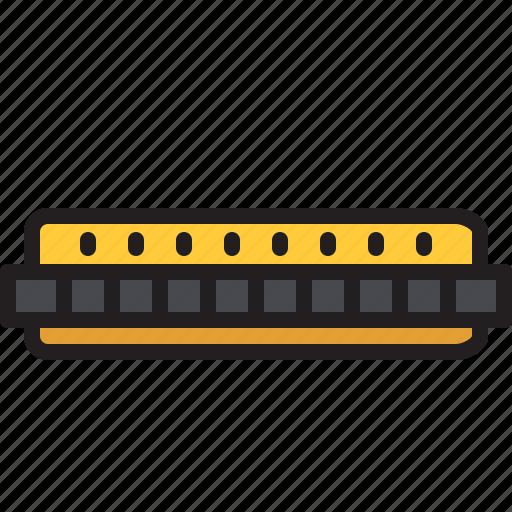 audio, harmonica, instrument, music, sound, wind icon