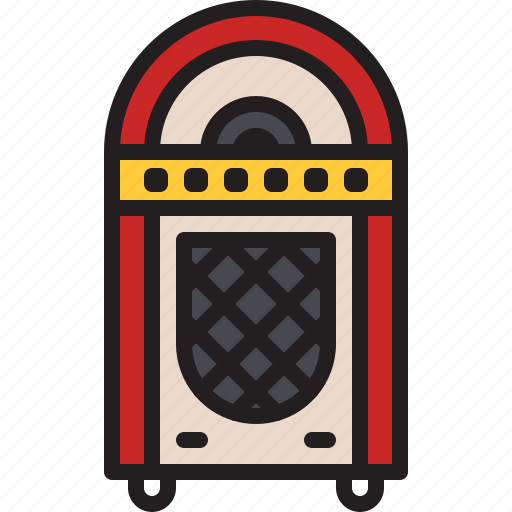 audio, jukebox, music, old, sound, vintage, vinyl icon