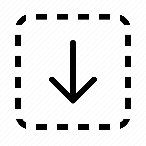 arrow, down, download, file, save icon