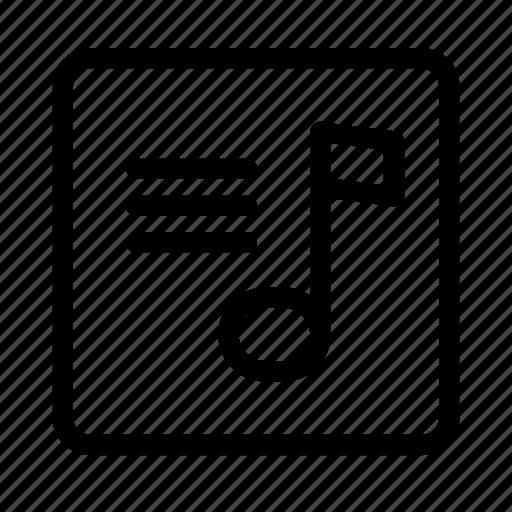 audio, lyrics, music, player, tone icon