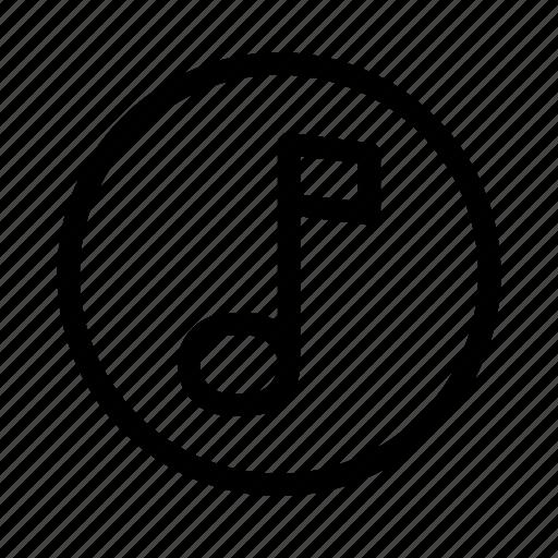 circle, lyrics, music, song, tone icon