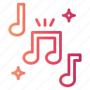 music, musical, note, song icon