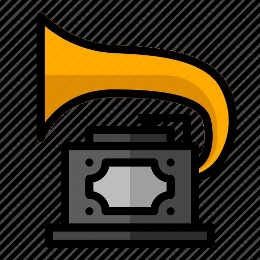 audio, classic, music, player, retro, sound, vinyl icon