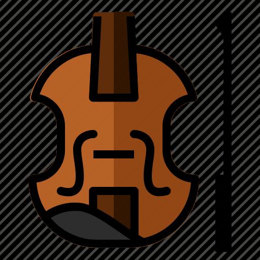 audio, classic, instrument, music, sound, violin icon