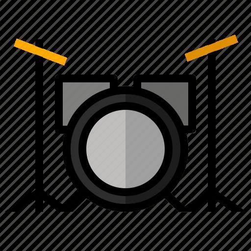 audio, drum, instrument, music, set, sound icon