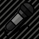 audio, karaoke, microphone, record, sound icon
