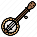 banjo, instrument, music, musical icon