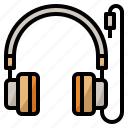 headphone, instrument, music, musical icon
