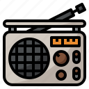 instrument, music, musical, radio icon