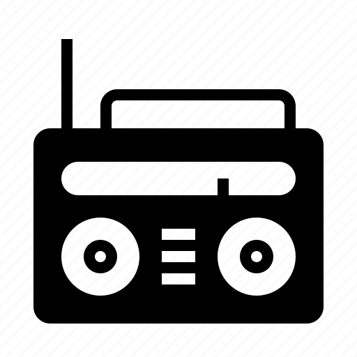 music, old, radio, retro, sound, speaker, vintage icon