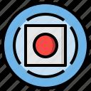 button, circle, circular, interface, multimedia, music, rec, record, recording icon