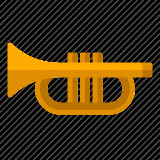 audio, instrument, loud, music, sound, trumpet icon
