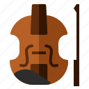 audio, classic, instrument, music, sound, violin icon