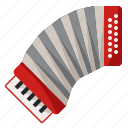 accordion, instrument, music, musical
