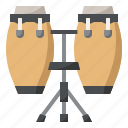 conga, instrument, music, musical icon