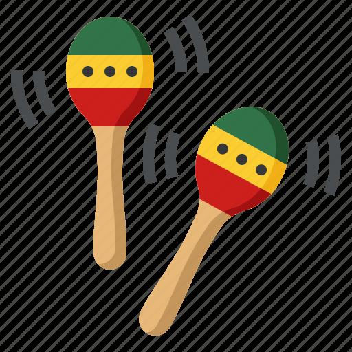instrument, maracas, music, musical icon