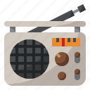 instrument, music, musical, radio icon