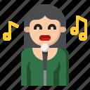avatar, instrument, music, musical, singer