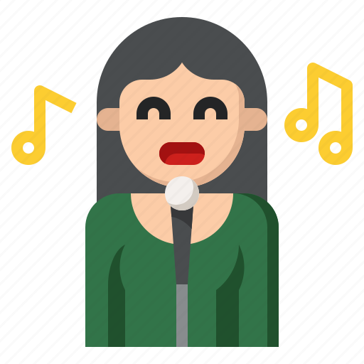 avatar, instrument, music, musical, singer icon