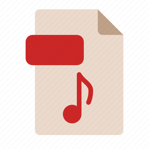 computer, extension, file, music, song, sound icon