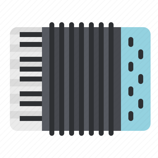 accordion, instrument, keyboard, music, piano, song, sound icon