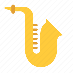 audio, instrument, music, sax, song, sound, wind icon
