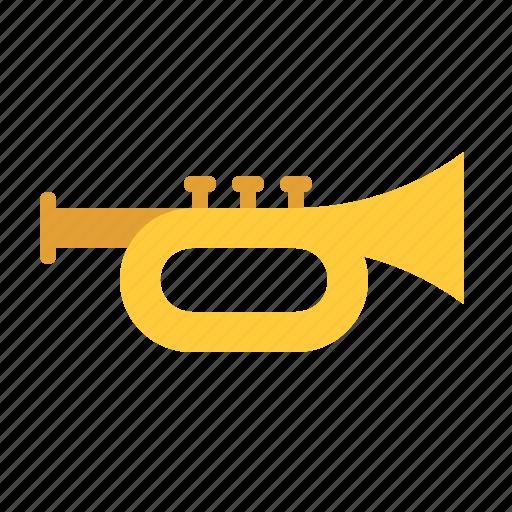 horn, instrument, music, song, sound, trumpet, wind icon
