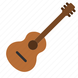 acoustic, guitar, instrument, music, song, sound, stringed icon