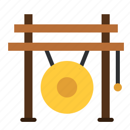 china, gong, instrument, music, percussion, song, sound icon