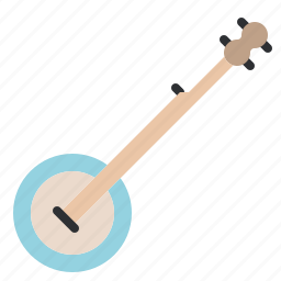 banjo, country, instrument, music, song, sound, stringed icon