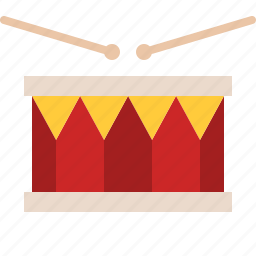audio, drum, instrument, music, percussion, song, sticks icon